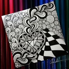 Zentangle 021317. All artworks are from Rebecca Kuan - #rebeccasecretbox Welcome to visit my FB Page: https://www.facebook.com/Rebecca.Zentanglebox/ #zentangle #zendoodle #doodle #doodleart #draw #drawing #tangle #art #sketch #artwork #zentangleart #zentangleinspiration #learnzentangle #zenart #hearttangles #valentangle2017