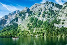 A marvelous lake - Situated within the Berchtesgaden Alps in the municipality of Schönau am Königsee, just south of Berchtesgaden and the Austrian city of Salzburg, the Königssee is Germany's third deepest lake. Located at a Jurassic rift, it was formed by glaciers during the last ice age. It stretches about 7.7 km (4.8 mi) in the north-south direction and is about 1.7 km (1.1 mi) across at its widest point. Except at its outlet, the Königsseer Ache at the village of Königssee, the lake…