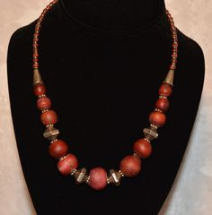 Large Whiteheart Bead Necklace
