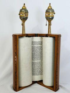 Fanfiction Ideas, Book Of Esther, Blue Building, Torah, Judaism, Book Binding, Pomegranate, Dragon Ball, Candle Holders