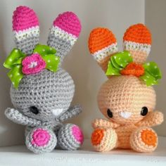Patrones Amigurumi: CONEJOS  | Free | This site has at least a couple hundred Amigurumi Free patterns.