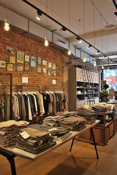 Loft design by retail design store interiors, shop interior Boutique Interior, Clothing Store Interior, Boutique Design, Shop Interior Design, Fashion Shop Interior, Fashion Store Design, Clothing Store Design, Fashion Stores, Design Commercial