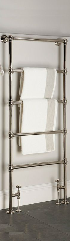 We like this style of towel rail - but preferably in bronze if possible - but would need to match the rest of the hardware in the bathroom - so whatever we end up going with for the other hardware, this would need to correspond. Upstairs Bathrooms, Downstairs Bathroom, Family Bathroom, Small Bathroom, Towel Heater, Disabled Bathroom, Bathroom Towel Rails, Bathroom Radiators, Towel Radiator