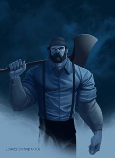 Paul Bunyan sans Babe by randybishopart on deviantART