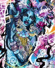 My Own Divine by Justin Copeland Black Love Art, Black Girl Art, Sexy Black Art, African American Art, African Art, Tableau Pop Art, Art Of Noise, Arte Black, Black Art Pictures