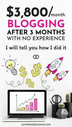 How to make money blogging for beginners   Want to earn some money for your blog? Learn how to go from $0 to over $3,800 after 3 months working part-time on my blog with NO experience. #blogging #makemoneyonline