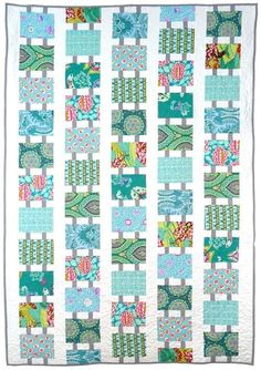 Follow the Leader by Weeks Ringle and Bill Kerr at Modern Quilt Studio. Fabrics by Amy Butler and Kaffe Fassett. Quilt Studio, Easy Quilts, Scrappy Quilts, Kid Quilts, Quilt Inspiration, Modern Quilt Patterns, Quilt Modern, I Spy Quilt, Contemporary Quilts