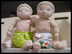 Some of our cloth diapers on our little cloth diaper models: @AppleCheeks Diapers and @Bummis :)