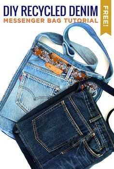 The Denim Messenger Bag! This tutorial is the perfect way to put old jeans to good use.