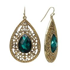 1928 Crystal Teardrop earrings $13