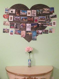 Postcard display ... Love to travel!