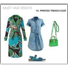 MUST HAVE SS2015-PRINTED TRENCH COAT by freshtrending on Polyvore featuring мода, Burberry and Michael Kors