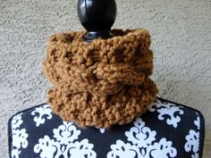 Scarf Cowl Womens Scarf  Chunky Scarf Toffee by KnitsDuNord, $24.00