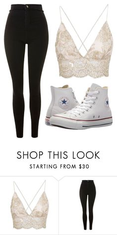 """Untitled #92"" by kacis-kacis on Polyvore featuring beauty, Topshop and Converse"