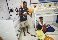 Veja a decoração do quartos dos filhos do jogador Jô