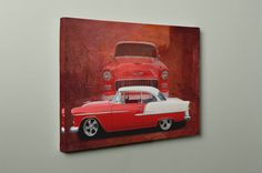 1955 Chevy Belair Double Image on Mirror Wrapped HpP
