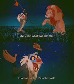 Lion King Rafiki.  It doesn't matter! It's in the past!