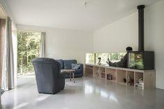 Maison JJ & SM Interior Fireplace Sitting Wood Window Living room