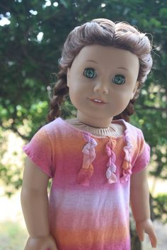 Pink and Orange Tee Shirt Dress for American Girl by LostinaJungle, $12.00