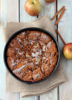 Gluten Free Walnut Apple Cake by Kirsten| My Kitchen in the Rockies