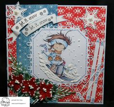 3d Cards, Marianne Design, Let It Snow, Happy Thoughts, Daisy, Christmas Cards, Frames, Christmas E Cards, Margarita Flower