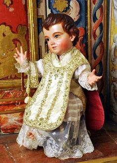 Divine Infant dressed in priest vestments