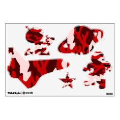 Blood Black Camo Custom Wall Art Wall Decals
