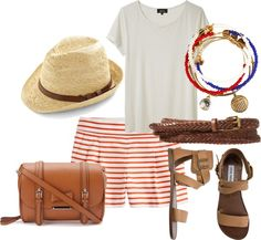 A patriotic look that's perfect for the Fourth of July.. or any summer day!