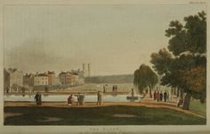 A generation later than they Wylder sisters books - but the grand houses are still overlooking Green Park and the Canal. Marchbourne House would have been among them. 1810 - The Green Park - London St James