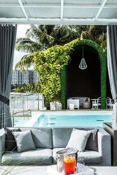 Kick back by the pool with friends and sip a few cocktails. Mondrian South Beach (Miami Beach, Florida) - Jetsetter