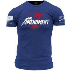 2nd Amendment Assemble T-Shirt- Grunt Style Men's Short Sleeve Tee Shirt
