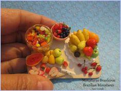Salad fruits  Miniatures food https://www.etsy.com/pt/shop/MiniaturaBrasileira