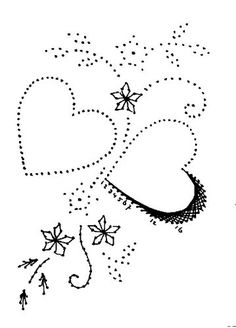 Embroidery Hearts, Paper Embroidery, Embroidery Stitches, Embroidery Designs, Quilting Stencils, Quilting Designs, Card Patterns, Applique Patterns, Arte Linear