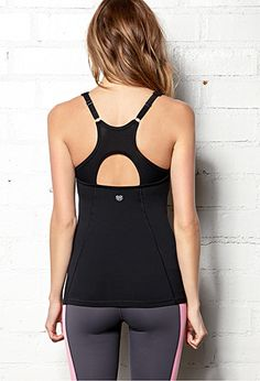 Forever 21 Cutout Mesh Workout Tank