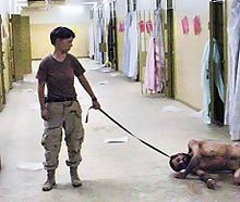 During the War in Iraq, human rights violations, committed from late 2003 to early 2004, in the form of physical, psychological, and sexual abuse, including torture,[1][2][3] reports of rape,[1][2] sodomy,[3] and homicide[4] of prisoners held in the Abu Ghraib prison (also known as Baghdad Correctional Facility) came to public attention beginning in early 2004 with Department of Defense announcements. These acts were committed by military police personnel of the United States Army together…