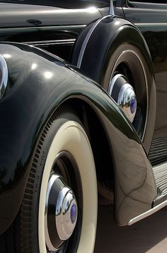 1937 Lincoln K Brunn Abstract - Car Images by Jill Reger