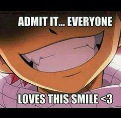 Admit it <3 Natsu, Fairy tail, smile