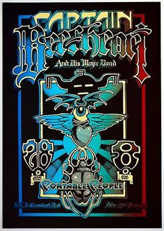 Captain Beefheart and his Magic Band and Portable People played Crawford Hall on Halloween back in 1968.  Artist: Rick Griffin.
