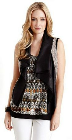 Love Love Love this Tweed Moto Vest!  Classic tweed with touches of faux leather