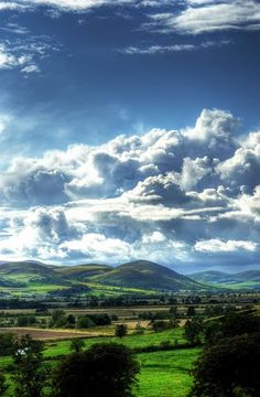 The Cheviots from Weetwood near Chillingham, Northumberland, England