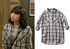 "Jung Eun-Ji in ""Trot Lovers"" Episode 6.  Thursday Island Plaid Shirt #Kdrama #TrotLovers #트로트의연인 #JungEunJi #정은지"