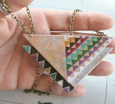 geometric necklace #Color #Triangles