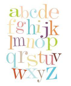 So cute for family room or bedrooms or someday playroom. Alphabet Nursery, Nursery Art, Alphabet Soup, Nursery Ideas, Alphabet Blocks, Alphabet Wall, Alphabet Print, Girl Nursery, Nursery Decor
