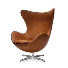 Egg. Designed in 1958 by Danish Arne Jacobsen for Hotel Royal in Copenhagen. #danishdesign #chair