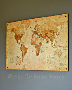You saw this cork board world map in our new office room the other day, right? Wonder how the whole map story started? From this $1.28 map that I found on Amazon! Yup, you read that right $1.28! Wi…