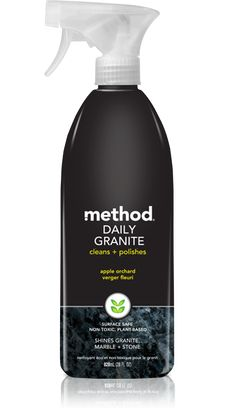 method daily granite cleaner will buff your stone, granite or marble to a beautiful, ick-free shine. our plant-based 28 oz formula is non-toxic.