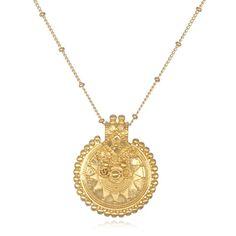 Mandala Sun Brass Necklace
