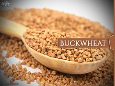 Buckwheat Buckwheat gets mentioned a lot in health food circles because it doesn't contain wheat, but has a similar texture when it's in noodle form. It is an excellent choice for gluten-free followers. It's also an alkaline food, so you can eat it without worrying if it will be acidic in your system. Buckwheat is surprisingly a good source of protein, and has a decent amount of iron in it as well.