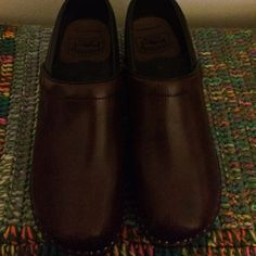 Cherry troentorps Size 42 cherry troentorps. Worn one night...didn't fit right. Made in Sweden. Shoes Mules & Clogs