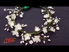 Flower crown: Wedding or First holy Communion or Flower girl - YouTube